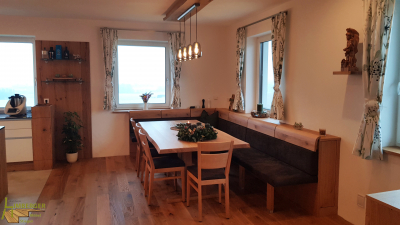Esstisch Eckbank Küche Massivholz ausziehbar Eiche rustikal modern Interiordesign Industriallook wohnlich